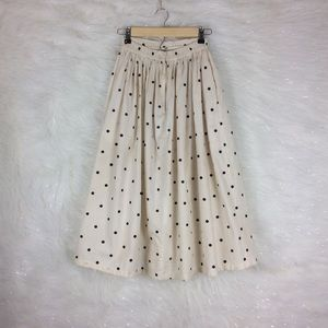 Vintage   high waist polka dot skirt